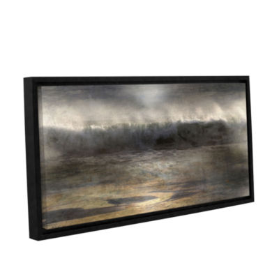 Brushstone Moonlit Wave Gallery Wrapped Floater-Framed Canvas Wall Art
