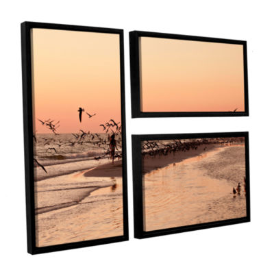 Brushstone More 3-pc. Flag Floater Framed Canvas Wall Art