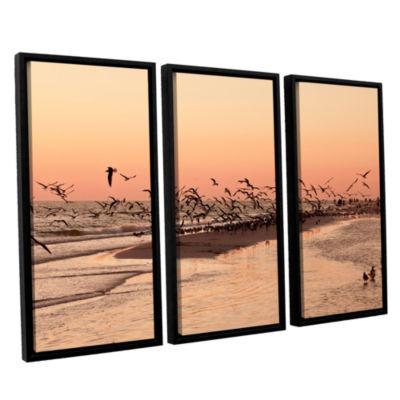 Brushstone More 3-pc. Floater Framed Canvas Wall Art