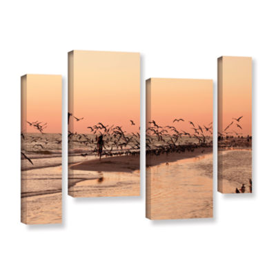 Brushstone More 4-pc. Gallery Wrapped Staggered Canvas Wall Art