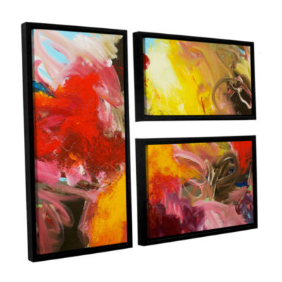 Brushstone Morning Burst 3-pc. Flag Floater FramedCanvas Wall Art
