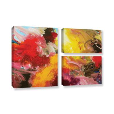 Brushstone Morning Burst 3-pc. Flag Gallery Wrapped Canvas Wall Art