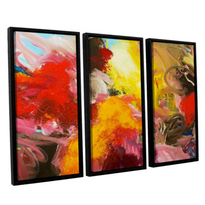 Brushstone Morning Burst 3-pc. Floater Framed Canvas Wall Art