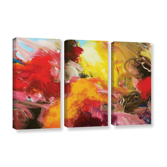 Brushstone Morning Burst 3-pc. Gallery Wrapped Canvas Wall Art