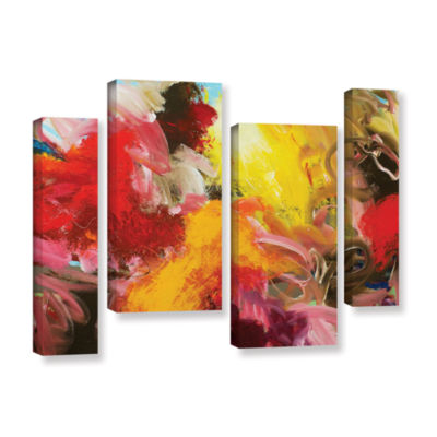 Brushstone Morning Burst 4-pc. Gallery Wrapped Staggered Canvas Wall Art