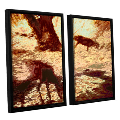 Brushstone Morning Deer 2-pc. Floater Framed Canvas Wall Art