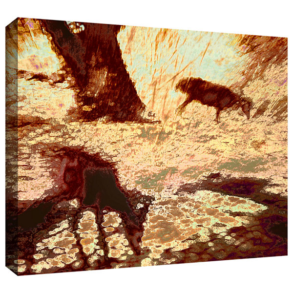 Brushstone Morning Deer Gallery Wrapped Canvas Wall Art