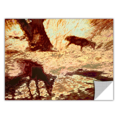 Brushstone Morning Deer Removable Wall Decal