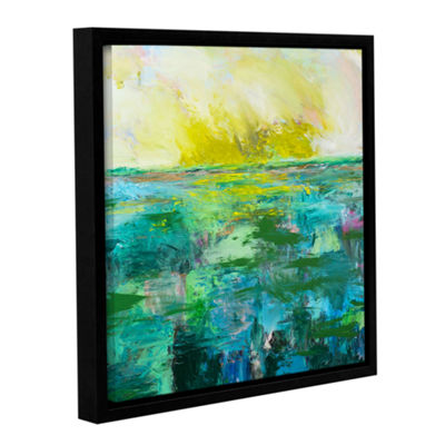 Brushstone Morning Dew Gallery Wrapped Floater-Framed Canvas Wall Art