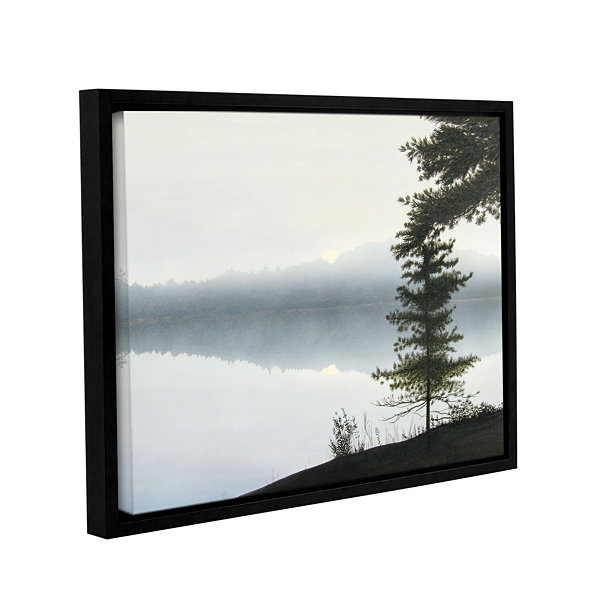 Brushstone Morning Fog Hires Gallery Wrapped Floater-Framed Canvas Wall Art