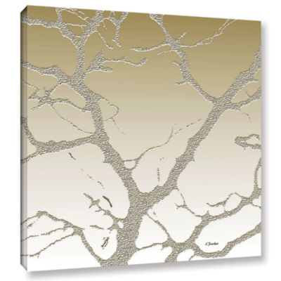 Brushstone Morning Light On Tree Gallery Wrapped Canvas Wall Art