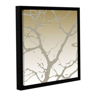 Brushstone Morning Light On Tree Gallery Wrapped Floater-Framed Canvas Wall Art