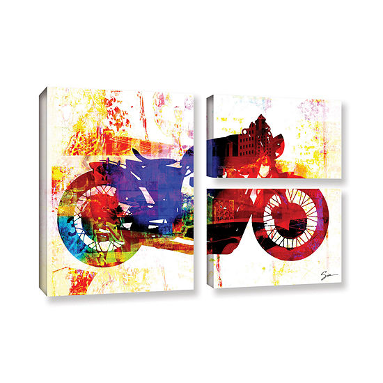 Brushstone Moto Iii 3 Pc Flag Gallery Wrapped Canvas Wall Art