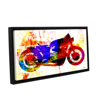Brushstone Moto III Gallery Wrapped Floater-FramedCanvas Wall Art