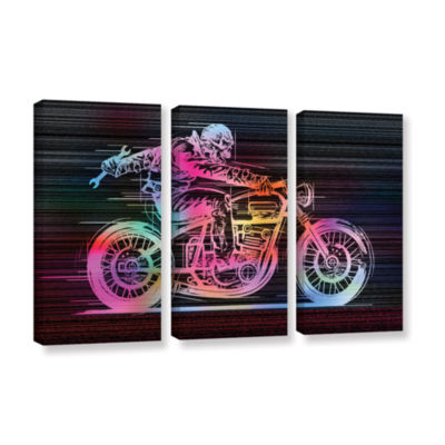 Brushstone Moto IV 3-pc. Gallery Wrapped Canvas Wall Art