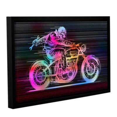Brushstone Moto IV Gallery Wrapped Floater-FramedCanvas Wall Art