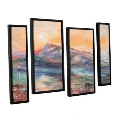 Brushstone Mount Rigi Switzerland Lake 4-pc. Floater Framed Staggered Canvas Wall Art