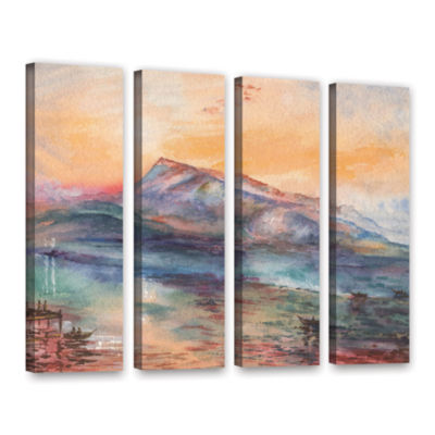 Brushstone Mount Rigi Switzerland Lake 4-pc. Gallery Wrapped Canvas Wall Art