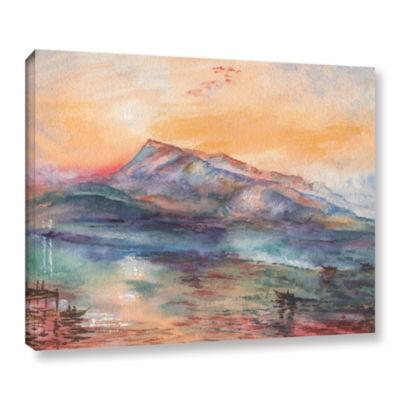 Brushstone Mount Rigi Switzerland Lake Gallery Wrapped Canvas Wall Art
