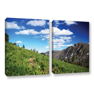 Brushstone Mountain Meadow 2-pc. Gallery Wrapped Canvas Wall Art