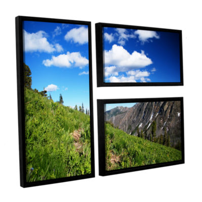 Brushstone Mountain Meadow 3-pc. Flag Floater Framed Canvas Wall Art