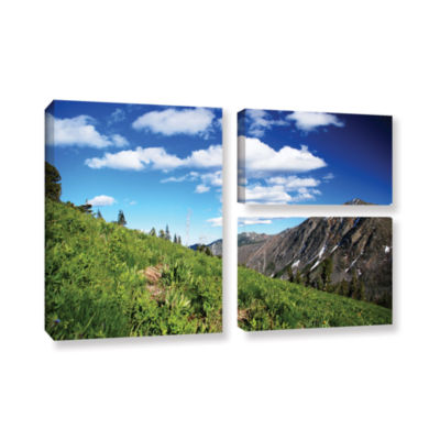 Brushstone Mountain Meadow 3-pc. Flag Gallery Wrapped Canvas Wall Art