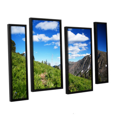 Brushstone Mountain Meadow 4-pc. Floater Framed Staggered Canvas Wall Art