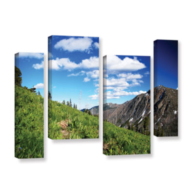 Brushstone Mountain Meadow 4-pc. Gallery Wrapped Staggered Canvas Wall Art