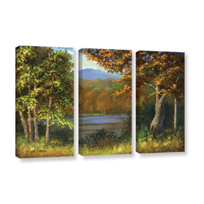 Brushstone Mountain Pond 3-pc. Gallery Wrapped Canvas Wall Art