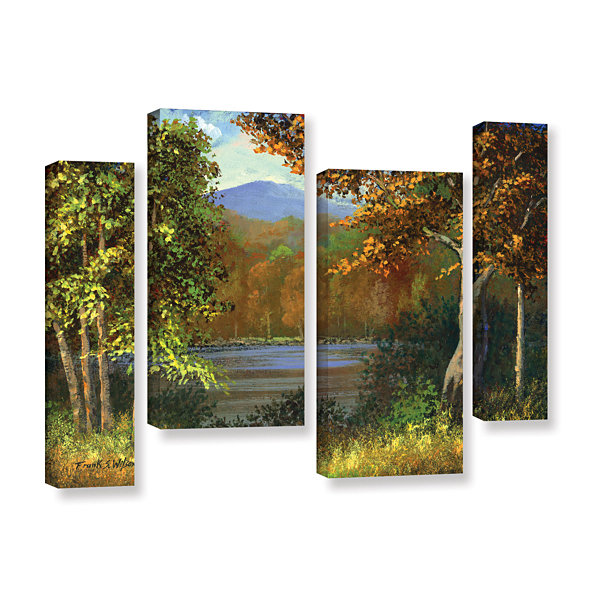 Brushstone Mountain Pond 4-pc. Gallery Wrapped Staggered Canvas Wall Art