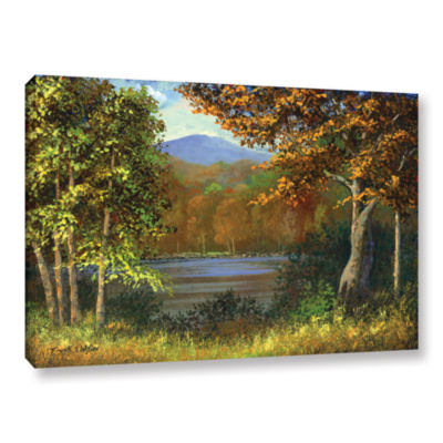Brushstone Mountain Pond Gallery Wrapped Canvas Wall Art