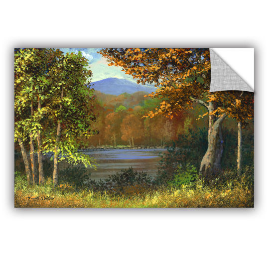 Brushstone Mountain Pond Removable Wall Decal