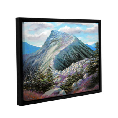 Brushstone Mountain Ridge Gallery Wrapped Floater-Framed Canvas Wall Art