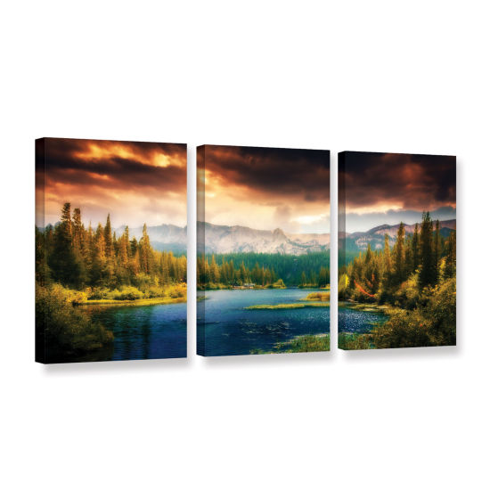 Brushstone Mountain View 3-pc. Gallery Wrapped Canvas Wall Art