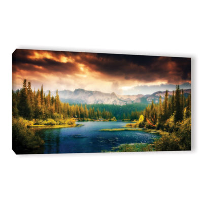 Brushstone Mountain View Gallery Wrapped Canvas Wall Art