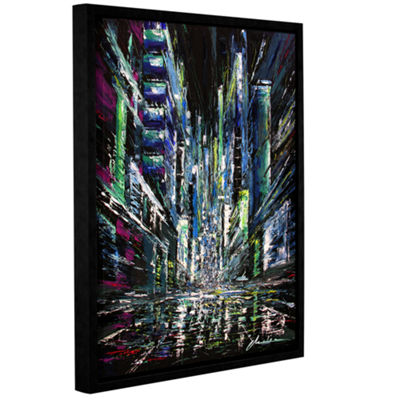 Brushstone Moving Forward Gallery Wrapped Floater-Framed Canvas Wall Art