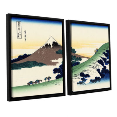 Brushstone Mt Fuji In The Sunset 2-pc. Floater Framed Canvas Wall Art
