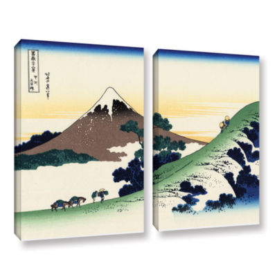 Brushstone Mt Fuji In The Sunset 2-pc. Gallery Wrapped Canvas Wall Art