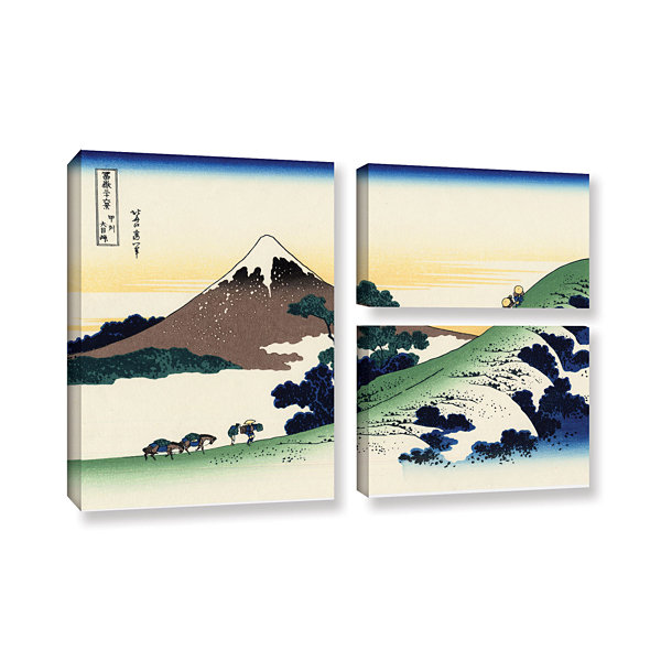 Brushstone Mt Fuji In The Sunset 3-pc. Flag Gallery Wrapped Canvas Wall Art