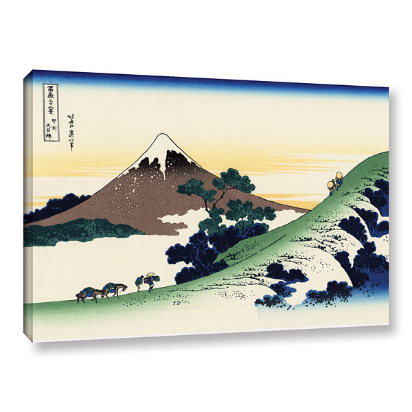 Brushstone Mt Fuji In The Sunset Gallery Wrapped Canvas Wall Art