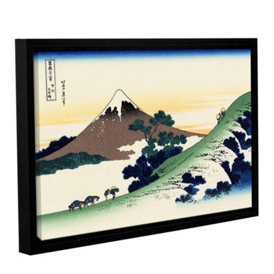 Brushstone Mt Fuji In The Sunset Gallery Wrapped Floater-Framed Canvas Wall Art