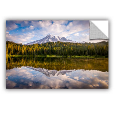 Brushstone Mt Rainer At Reflection Lakes RemovableWall Decal