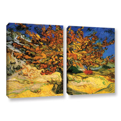 Brushstone Mulberry Tree 2-pc. Gallery Wrapped Canvas Wall Art