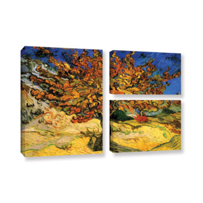 Brushstone Mulberry Tree 3-pc. Flag Gallery Wrapped Canvas Wall Art