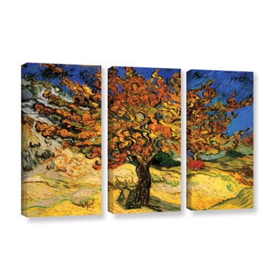 Brushstone Mulberry Tree 3-pc. Gallery Wrapped Canvas Wall Art