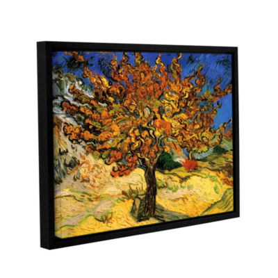 Brushstone Mulberry Tree Gallery Wrapped Floater-Framed Canvas Wall Art