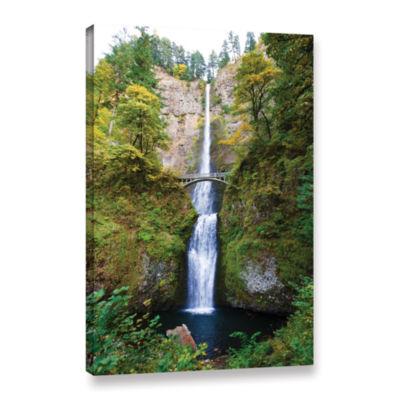 Brushstone Multnomah Falls Gallery Wrapped CanvasWall Art