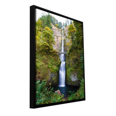 Brushstone Multnomah Falls Gallery Wrapped Floater-Framed Canvas Wall Art
