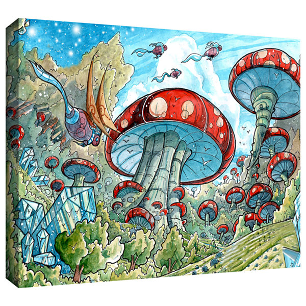 Brushstone Mushroom Forest Gallery Wrapped CanvasWall Art