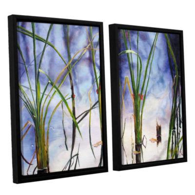 Brushstone Mystic Pond 2-pc. Floater Framed CanvasWall Art